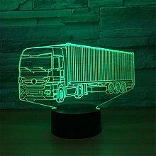 3d voiture camion tracteur Illusion lampe de