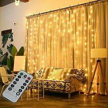 3M chaîne LED fée lumières guirlande rideau