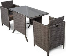 3Pcs L'Ensemble Table et Chaise de Jardin en