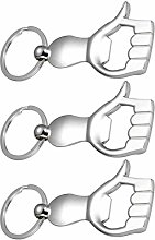 3pcs ouvre-bouteille porte-clés porte-clés outil