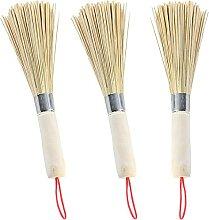 3Pcs Wok Brosse Bambou Outil de Nettoyage Wok