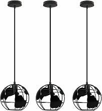 3x Suspension Luminaires Industrielle Cage Sphère
