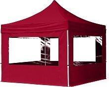 3x3 m Tente pliante - Alu, PES 300g/m², côté