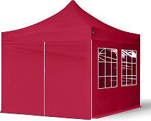 3x3 m Tente pliante avec côtés (4 fenêtres),