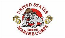 3x5 U S États-Unis Marine Corps Semper Fi Bulldog