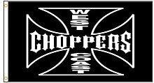 3x5ft West Coast Choppers Drapeau