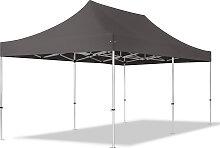 3x6 m Tente pliante - Alu, PES 400g/m², gris
