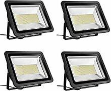 4×300W Étanche IP65 Lumière Blanc Chaud