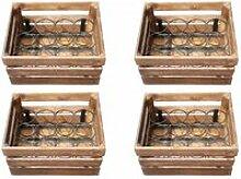 4 casiers bois 48 bouteilles - bacchus