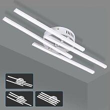 4 Lumières Blanc Froid Plafonnier LED, 28W Lampe