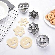 4 pièce Smiley acier inoxydable emporte-pièce