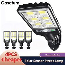 4 PIÈCES LAMPADAIRE LED 128 COB Solaire de