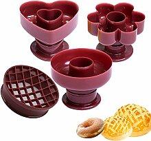 4 Pièces Moule à Beignets Donut Moules Cuisson