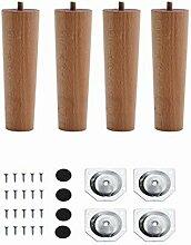 4 pièces pieds de meuble en bois pieds de table