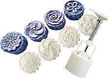 4 timbres de style rond fleur moon gâteau moule