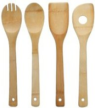 4 ustensiles de cuisine bambou