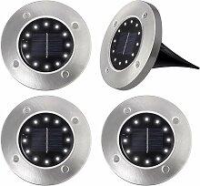 4 x 12 lampes solaires à LED, éclairage