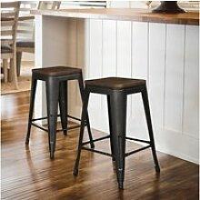 4 x chaises de bar hombuy design industriel