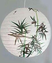 40 cm bambou rond papier lanterne abat-jour