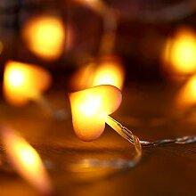 40 LEDs Guirlande Lumineuse Coeur Saint Valentin,