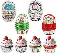 400 pièces Étuis à cupcakes de Noël Mini