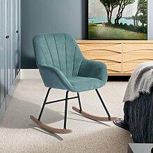 4187 Fauteuil à bascule chaise berçante moderne