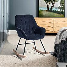 4188 Fauteuil à bascule chaise berçante moderne