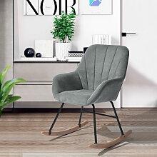 4189 Fauteuil à bascule chaise berçante moderne