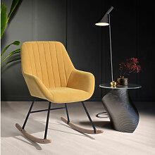 4193 Fauteuil à bascule chaise berçante moderne