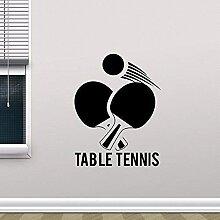 42X55Cm Tennis De Table Art Vinyl Sticker Mural