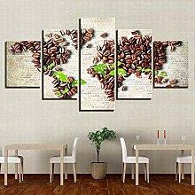 45Tdfc 5 Panneaux Ouvrages d'art Impression