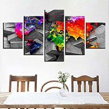 45Tdfc 5 Pieces Impression sur Toile intissee