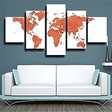 45Tdfc Impression sur Toile Intissee 5 Pieces