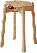 47-B Tabouret en bois massif - Banc de table à