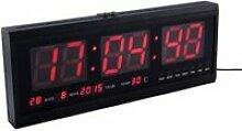 48 cm horloge murale numérique grande LED temps