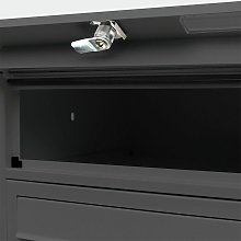 4p Boîte aux lettres PO Box 4 compartiments noir