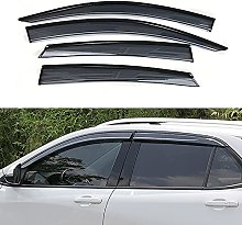 4PCS Déflecteurs Vent Fenêtre Latérale de