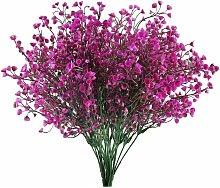 4pcs Gypsophile Artificielles 7 Branches Fleurs