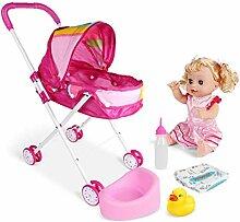 4PCS / SET Baby Doll poussette pliable Pram