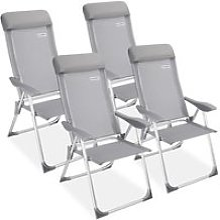 4x Chaises de jardin pliante aluminium -60 x109cm