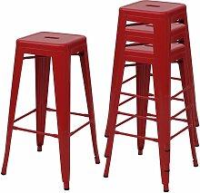 4x tabouret de bar HHG-844, chaise de comptoir,