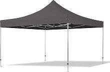 4x4 m Tente pliante - Alu, PES 400g/m², gris