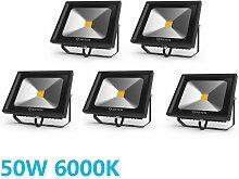 5× 50W Projecteur LED Extérieur Spot LED