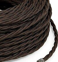 5 m Câble électrique tressé style vintage avec