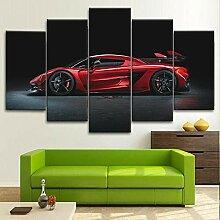 5 Panneau Mural Art Peinture Koenigsegg JESCHO
