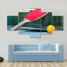 5 Panneau Mural Art Peinture Raquette De Tennis