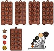 5 PCS Moule De Chocolat En Silicone, Plateaux De