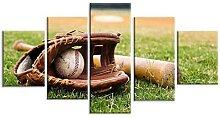 5 PièCes Baseball Sport Impression sur Toile