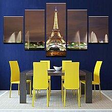5 Pièces Moderne Giclée HD Imprimer Toile Murale