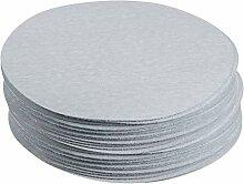 50 pièces 5 pouces oxyde d'aluminium blanc